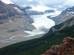 Athabasca Glacier, Icefield Parkway, British Columbia, Canada. Glad i got to see and walk on it before it is gone!