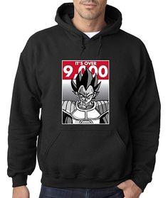09d310bd9572e Buy New Way 350 - Hoodie It s Over 9000 Vegeta Goku Power Level Dragon Ball  Z Unisex Pullover Sweatshirt