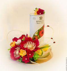 Чайная композиция - купить или заказать в интернет-магазине на Ярмарке Мастеров   Необычный и очень красивый подарок в составе чай(…