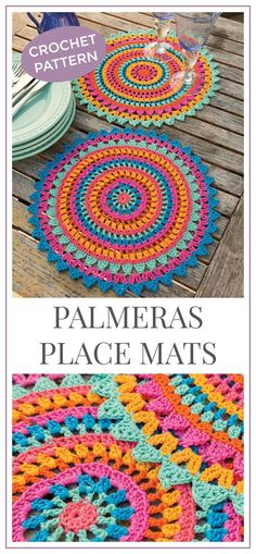 Set the table in summer style! Palmeras Place Mats Crochet Pattern, Place mat Pattern Crochet ,Crochet Pattern Mandala PDF #crochet #crochetpattern #ad #tablesetting #summer