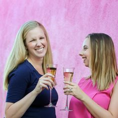 Pop the bubbly it's Friday! What are your big wins this week? Comment below and let's inspire and support each other. ________________________________ Branding photo of @weddingbusinessbosses / my new gal pals from @thesavvyexperience. Aren't they the cutest?