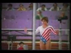 Mary Lou Retton - Perfect 10 Vault - 1984 Summer Olympics!  she only did a front handspring but I totally felt like she did this when Allyson got first place!:D