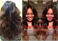 "#Hair #Model: Tasha - 22"", 18"", 14"" virgin indian #wavy and a 12"" wavy #closure"