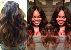 "#Hair #Model: Tasha - 22"", 18"", 14"" virgin indian #wavy and a 12"" wavy #closure"