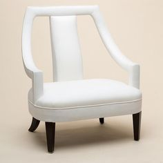 Upholstered Armchair by Wychwood Design. French Chairs, Upholstered Arm Chair, Contract Furniture, White Home Decor, Modern Armchair, Occasional Chairs, Living Room Chairs, Luxury Furniture, Chair Design