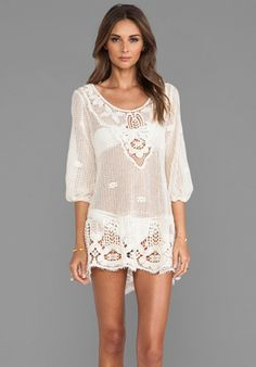 Eberjey Natalya Dress in Natural- would be an adorable coverup