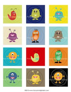 monster printables. they would be very cute in a little boy's room