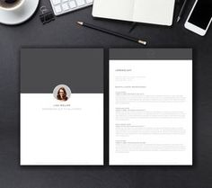 Modern Resume Template, CV Template, Cover Letter, References, MS ...