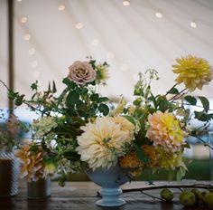 Rainy October Wedding on Martha's Vineyard Flowers by Saipua
