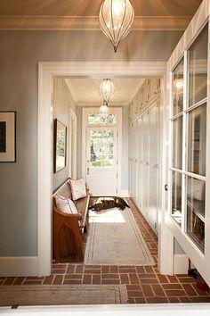 Vintage bench + hallway | Jones Pierce