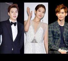 Lee Min Ho, Park Shin Hye y Lee Jong Suk.
