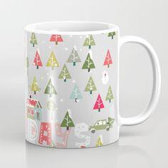 Happy Holidays Pattern Mug