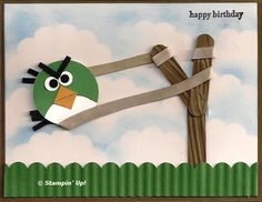 Stampin Up! - Angry Birds Green!