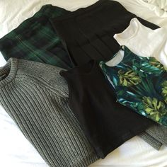 Shades of Green for Fall. #AmericanApparel #fall #colors - Find Hundreds of Top…