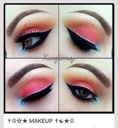 Bright make - up # summer