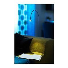 JANSJÖ Lampada da terra/lettura a LED - bianco - IKEA