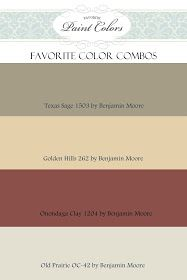 Favorite Paint Colors: Benjamin Moore Color Combination