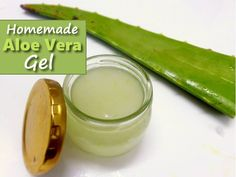 Homemade Aloe Vera Gel - all natural & ready in just 5 minutes... #homemade #homesteading