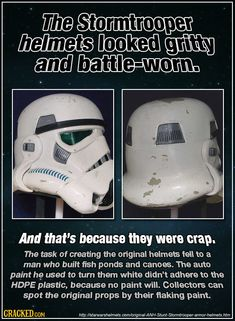 And they can spot which prop appeared in which scene, by the wear marks. #starwars