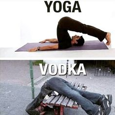 Yoga vodka image Image tagged in yoga vodka. Pin On Yoga And Vodka Funny Picture . Memes Humor, Drunk Memes, Drunk Fails, Yoga Humor, Funny Images, Funny Photos, Hilarious Pictures, Quotes Images, Videos Funny