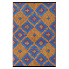 Give a great and smart look to any room in your home with this Fab Habitat Saman Indoor or Outdoor Blue and Orange Area Rug. Orange Rugs, Orange Area Rug, Red Rugs, Blue Area Rugs, Blue Orange, Orange Color, Colour, Blue Outdoor Rug, Indoor Outdoor Area Rugs