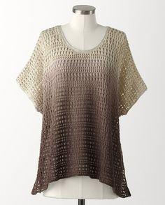 Ombré sweater poncho - [K14381]