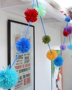 pom pom bunting - Dr. Seuss decoration