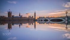 Wide angle view at Westminister, Flipped to create a dream -like reflection, thanks for viewing