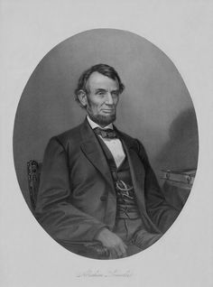 Civil War artwork of President Abraham Lincoln sitting in a chair.