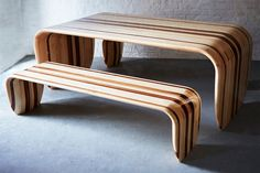 Surfer-Chic Table and Bench Set from Duffy London