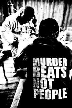murder beats- not people. Hip hop, music, inspiration, and life. Black and White Photography     http://eclipcity.com