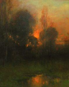 Abstract Landscape Painting, Landscape Art, Landscape Paintings, Nocturne, Moonlight Painting, Tree Art, Ciel, Art Techniques, Oeuvre D'art