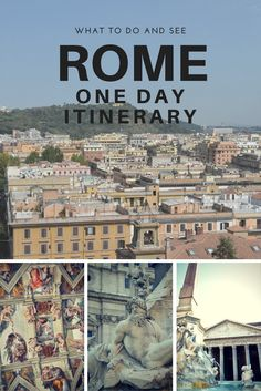 Only have one day in Rome? Use this itinerary to maximize your time. What to see and do on your Rome vacation. asoutherntraveler.com