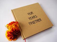 CUSTOM Wedding Anniversary Journal Gift DIY