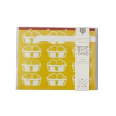 Fruit Assorted Recipe Cards