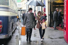 SHAUN EVANS as Endeavour and SOPHIE STUCKEY as Pamela Walters