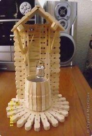 Diy Crafts - Best Ideas For Crochet Coasters Square Pot Holders crochet Popsicle Stick Houses, Popsicle Stick Crafts, Craft Stick Crafts, Easy Crafts, Diy And Crafts, Crafts For Kids, Arts And Crafts, Wooden Clothespin Crafts, Wooden Clothespins