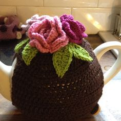 Seriously cute crochet tea cosy by Claire Wilson
