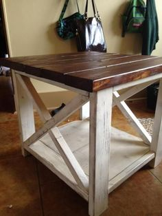 Furniture ikea ana white the rustic side table diy projects pallet end tables bedside with storage night stand Pallet Furniture, Furniture Projects, Rustic Furniture, Home Projects, Modern Furniture, Pallet Projects, Furniture Plans, Antique Furniture, Primitive Furniture