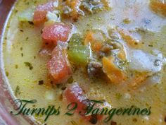 Turnips 2 Tangerines: Spicy Cheeseburger Soup