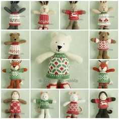 christmas friends 2009 by littlecottonrabbits, via Flickr