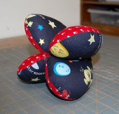 Quick and easy baby toy to sew for baby showers.