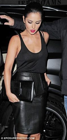 ec65caebe Cheryl Cole dons flimsy vest and tight leather skirt as she and Tre Holloway  enjoy romantic