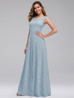 Great for UK Ever-Pretty Elegant Lace Neck Long Bridesmaid Dreses Evening Party Gowns 0941 Fashion Women dresses from top store Evening Party Gowns, Long Evening Gowns, Bridesmaid Dresses Online, Homecoming Dresses, Prom Gowns, Party Dresses, Blue Dresses, Party Gowns Online, Affordable Prom Dresses