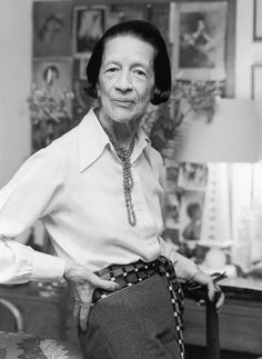Diana Vreeland: the iconic editor in chief of Harper's Bazaar and Vogue, credited with creating the modern fashion magazine.