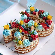 Очередная циферка 2️⃣9️⃣ Каждый торт неповторимый и только для Вас❤️ ————————————————-#тортмосква #торт #тортик #тортыназаказ… Biscuit Cake, Mini Cupcakes, Biscuits, Birthday Cake, Desserts, Drink, Food, Decorating Cakes, Crack Crackers