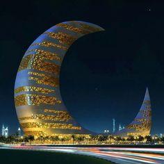 Dubai's Crescent Moon Tower via VR-Zone's Facebook Page!!