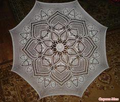 *Сбылась мечта, или мой первый вязаный зонт