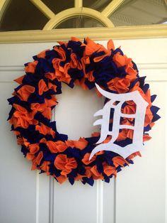 Detroit Tigers Wreath on Etsy, $25.00