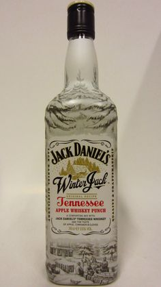 Jack Daniels Winter Jack Apple Whiskey Punch - this could be awful but I want it because it's winter themed.
